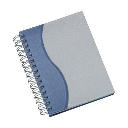 Agenda Wire-o Metalizada S Azul