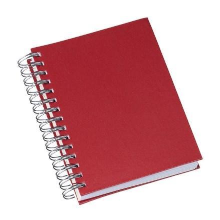 Agenda Wire-o Metalizada Lisa Vermelha