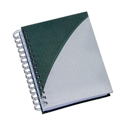 Agenda Wire-o Metalizada Verde com Prata