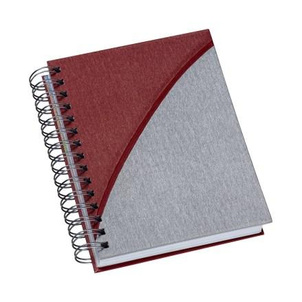 Agenda Wire-o Metalizada Vermelho com Prata