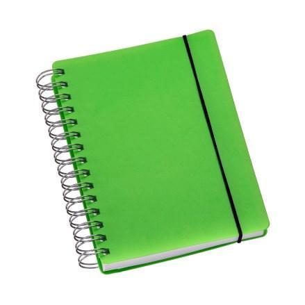 Agenda Wire-o Capa Plástica Verde