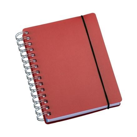 Agenda Wire-o Capa Plástica Vermelha