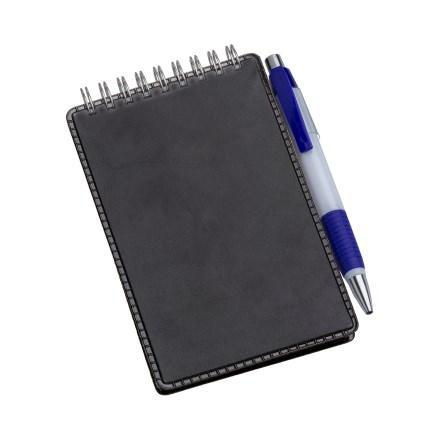 Caderneta de Anotações Vertical Preta