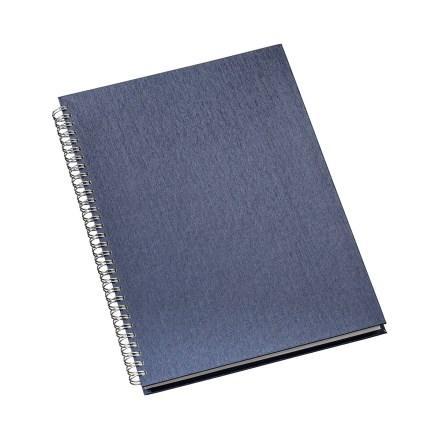 Caderno de Negócios Pequeno Capa Metalizada Azul
