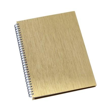 Caderno de Negócios Pequeno Capa Metalizada Ouro