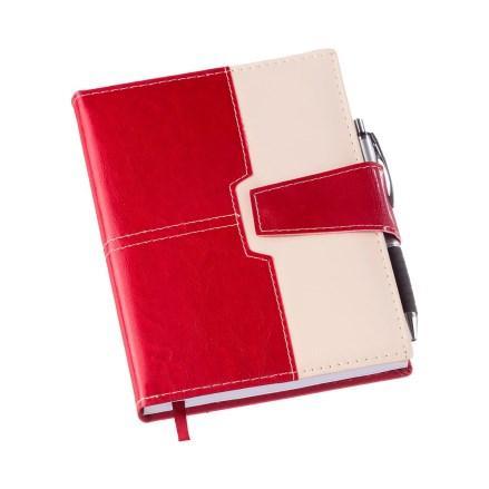 Agenda Executiva Vermelha c/ Fecho de Imã e Sup. p/ Caneta