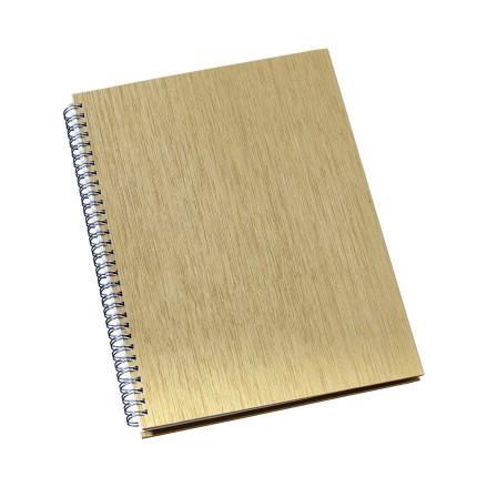 Caderno de Negócios Grande Capa Metalizada Ouro