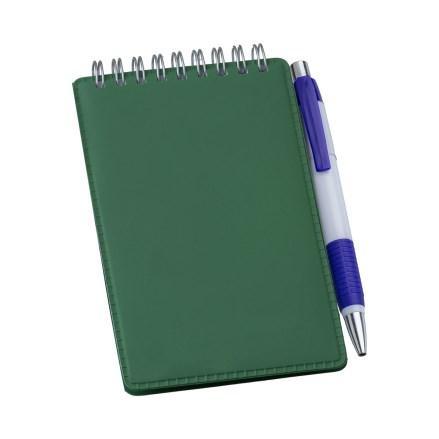 Caderneta de Anotações Vertical Verde