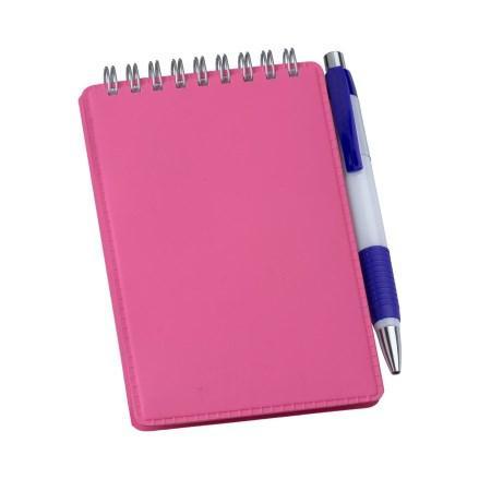 Caderneta de Anotações Vertical Rosa