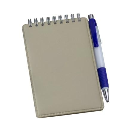 Caderneta de Anotações Vertical Bege