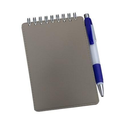 Caderneta de Anotações Vertical Cinza