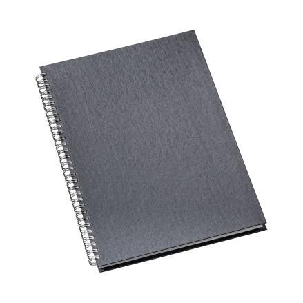 Caderno de Negócios Grande Capa Metalizada Grafite