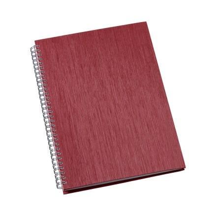 Caderno de Negócios Grande Capa Metalizada Vermelho