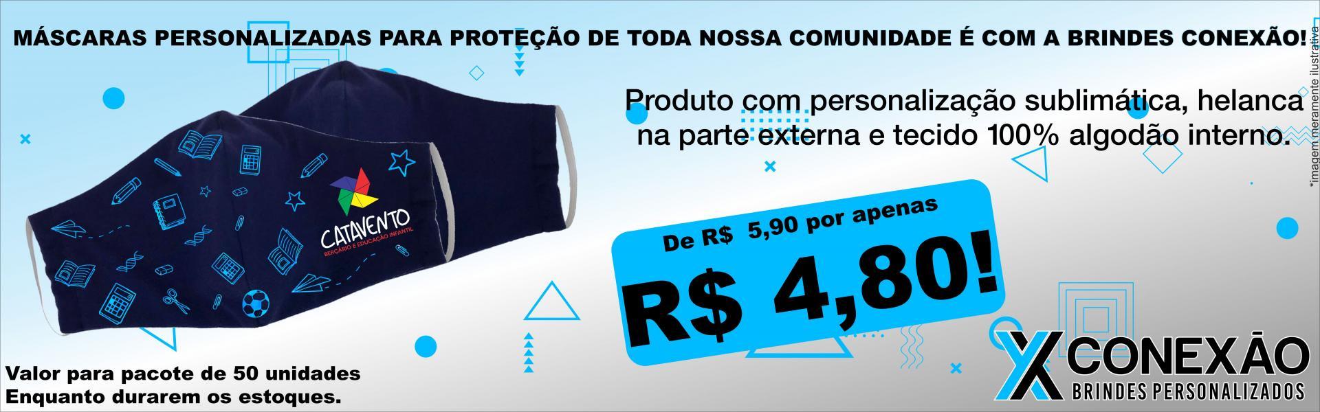 MÁSCARA DE PROTEÇÃO PESSOAL R$ 4,80